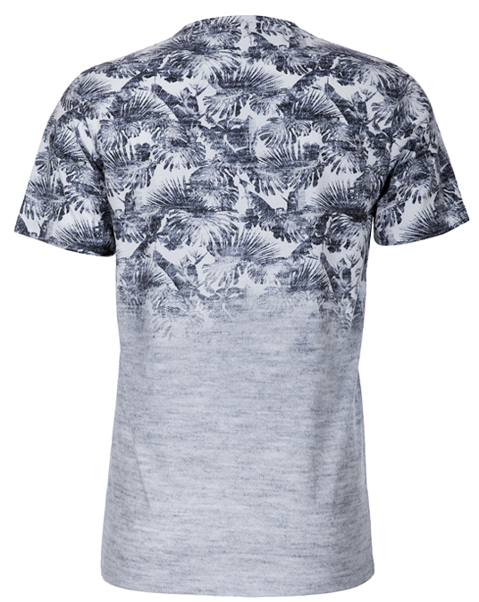 Local Grey Palm Fade - Men, T-shirts - Local-UAE