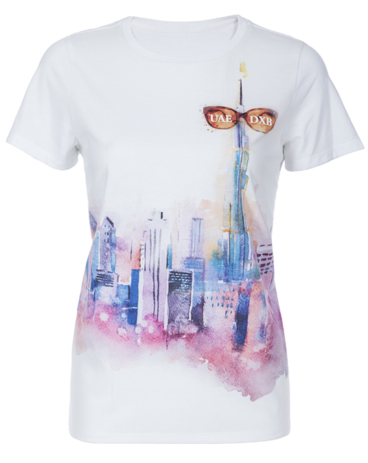 Local Chilling Burj Ladies Tee - T-shirts, Women - Local-UAE