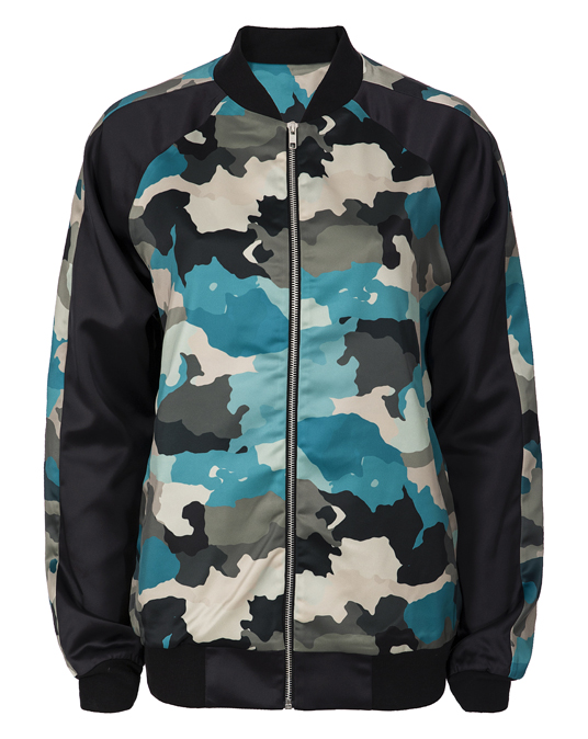 Local Ladies Camo Bomber Jacket - Jackets, Women - Local-UAE