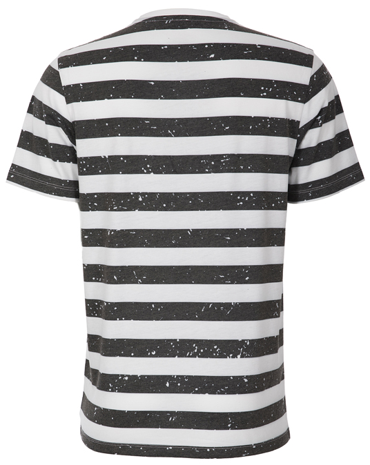 Local Black & White Stripes - Men, T-shirts - Local-UAE