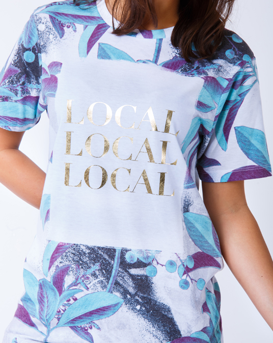 Local Gold Floral Ladies Tee