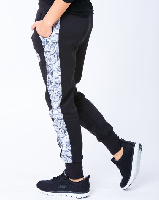 Local Floral Stripe Joggers