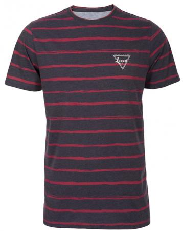 Local Red Striped Navy Tee - Men, T-shirts - Local-UAE