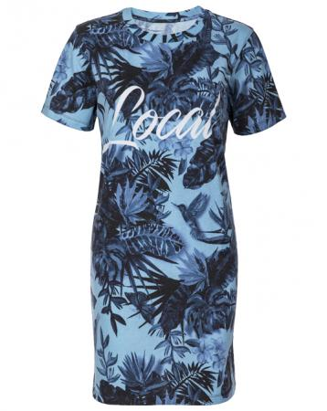 Local Ladies Blue Floral Dress Tee - Jackets, Women - Local-UAE